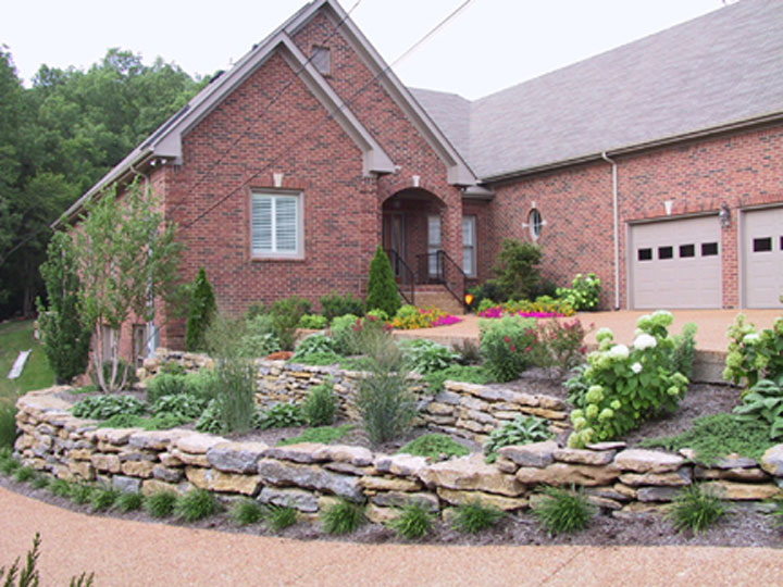 After Shot Of The Rock Garden We Added In This Front Yard To Address